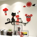 """Veidrodiniai lipdukai """"Nuostabieji katinai"""" (100 x 65 cm)"""