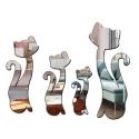 """Veidrodiniai lipdukai """"Nuostabieji katinai 3"""" (4 vnt)"""