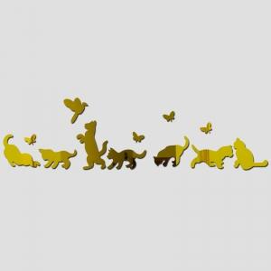 """Veidrodiniai lipdukai """"Nuostabieji auksiniai katinai"""" (10 vnt)"""