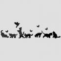 """Veidrodiniai lipdukai """"Nuostabieji katinai 2"""" (10 vnt)"""