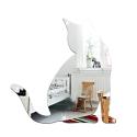 """Veidrodinis lipdukas """"Nuostabusis sidabrinis katinas"""" (28 x 28 cm)"""