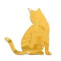 """Veidrodinis lipdukas """"Nuostabusis auksinis katinas"""" (28 x 28 cm)"""