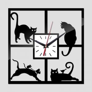 """Sieninis laikrodis """"Stilingi katinai"""""""