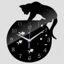 """Sieninis laikrodis """"Katinas ir žuvelės"""""""