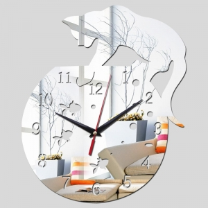 """Sieninis laikrodis """"Katinas ir žuvelės 2"""""""