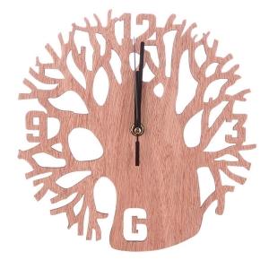 """Sieninis laikrodis """"Šakotasis medis"""" (23 x 23 cm, medinis)"""