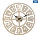 """Sieninis laikrodis """"Romėniški skaičiukai 3"""" (23 x 23 cm, medinis)"""