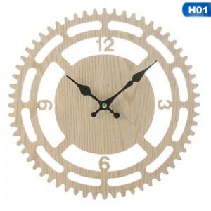 """Sieninis laikrodis """"Dandračių ratas"""" (23 x 23 cm, medinis)"""