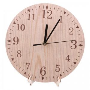 """Sieninis laikrodis """"Medžio ratas"""" (23 x 23 cm, medinis)"""