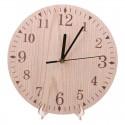 """Sieninis laikrodis """"Medžio ratas 2"""" (23 x 23 cm, medinis)"""