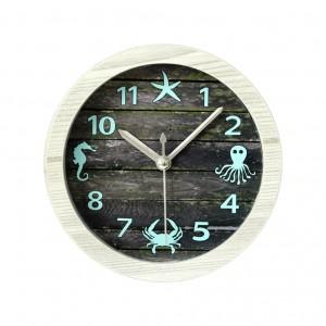 """Sieninis laikrodis """"Vandenynas"""" (12 x 12 cm, medinis)"""