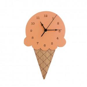 """Sieninis laikrodis """"Ledai 3"""" (28 x 16 cm, medinis)"""