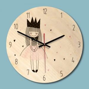 """Sieninis laikrodis """"Princesė"""" (28 x 28 cm, medinis)"""