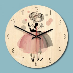 """Sieninis laikrodis """"Meilė"""" (28 x 28 cm, medinis)"""