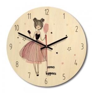 """Sieninis laikrodis """"Tikrasis džiaugsmas"""" (28 x 28 cm, medinis)"""