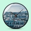 """Sieninis laikrodis """"Miestas"""" (30 x 30 cm, medinis)"""