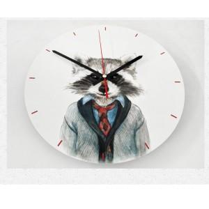 """Sieninis laikrodis """"Katinas puikusis"""" (30 x 30 cm, medinis)"""