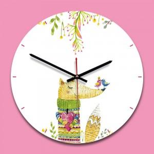 """Sieninis laikrodis """"Puikioji lapė"""" (28 x 28 cm, medinis)"""