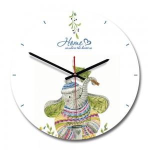 """Sieninis laikrodis """"Mielasis drambliukas"""" (28 x 28 cm, medinis)"""