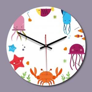 """Sieninis laikrodis """"Vandenyno pasaulis 2"""" (28 x 28 cm, medinis)"""
