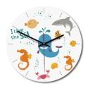 """Sieninis laikrodis """"Aš myliu jūrą"""" (28 x 28 cm, medinis)"""