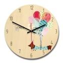 """Sieninis laikrodis """"Mano stilius"""" (28 x 28 cm, medinis)"""