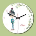 """Sieninis laikrodis """"Mylimoji Olivija"""" (28 x 28 cm, medinis)"""