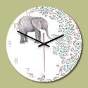 """Sieninis laikrodis """"Laimingas drambliukas"""" (28 x 28 cm, medinis)"""