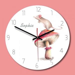 """Sieninis laikrodis """"Mylimoji Sofija"""" (28 x 28 cm, medinis)"""