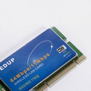 PCI 54 Mbps 202.11b/g WiF bevielis LAN kortelės adapteris (siejiklis)