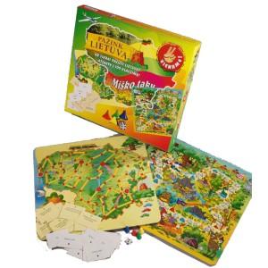 """Stalo žaidimai """"Pažink Lietuvą"""" ir """"Miško taku"""""""