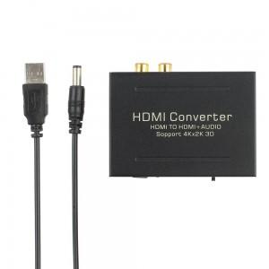 HDMI į HDMI ir SPDIF + RCA audio keitiklis (3D 4K 2160P)