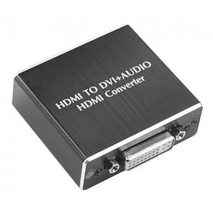 HDMI į DVI ir SPDIF + ausinės keitiklis (1080P)