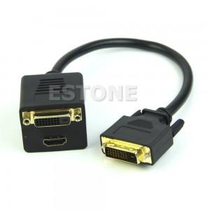 DVI į HDMI ir DVI dalintuvas