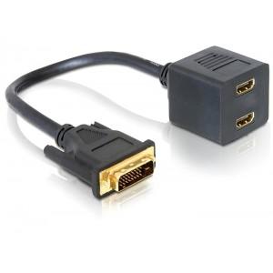 DVI į VGA ir DVI dalintuvas