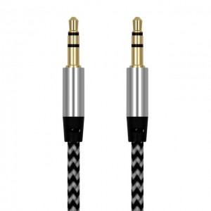 3.5mm kabelis ilgintuvas (1 metro, Gold-plated)