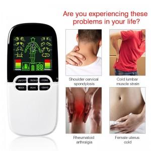 """Elektroninis kūno masažuoklis-treniruoklis """"Elegancija 2"""" (dvigubo veikimo, 12 elektrodų pagalvėlių)"""