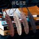 """Mediniai knygų skirtukai """"Sėkmės plunksnos"""" (rankų darbo, iškirtiniai)"""