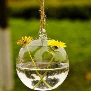 """Dekoratyvinis pakabinamas vazonas """"Burbulas dviem gėlėm"""""""