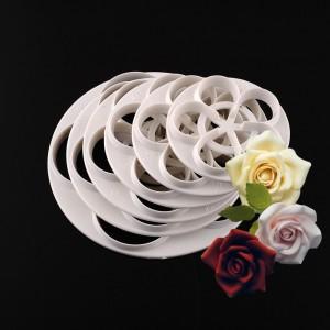 """Figūrinės formelės tortams ir pyragams """"Nuostabiosios rožytės"""" (6 vnt.)"""