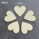 "Medinės figūrėlės ""Meilės širdelės 5"" (50 vnt., 40 mm)"