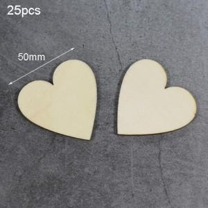 "Medinės figūrėlės ""Meilės širdelės 6"" (25 vnt., 50 mm)"