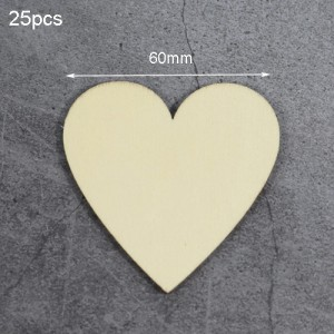 "Medinės figūrėlės ""Meilės širdelės 7"" (25 vnt., 60 mm)"