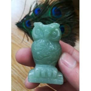 """Figūrėlė """"Žalioji pelėda"""" (naturalus kristalas)"""