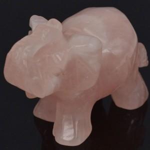 """Figūrėlė """"Rožinis drambliukas"""" (rožinis kvarcas, 5 cm)"""