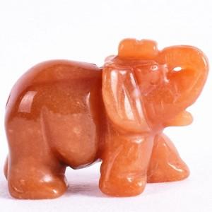"""Figūrėlė """"Morkinis drambliukas"""" (raudonasis agatas, 5 cm, 50 g.)"""