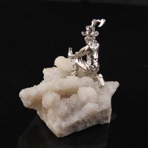 "Figūrėlė ""Kalnakasys"" (baltasis kristalas, 120 g)"