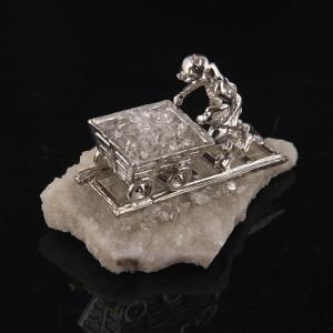"Figūrėlė ""Kalnakasys 2"" (baltasis kristalas, 120 g)"