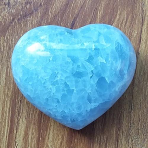 """Figūrėlė """"Mėlynoji širdelė"""" (celestitas, 253 g.)"""