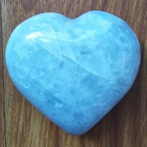 """Figūrėlė """"Mėlynoji širdelė 2"""" (celestitas, 291 g.)"""
